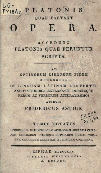 Plato - Quae exstant opera; accedunt Platonis quae feruntur scripta;