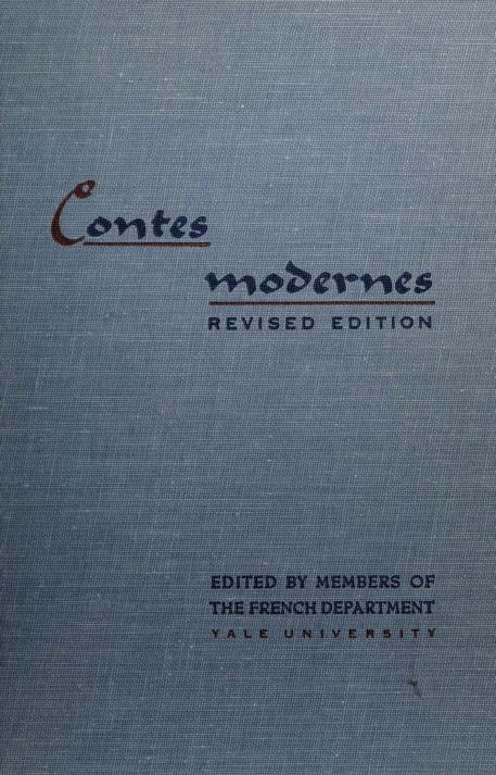 Contes modernes by Yale University. Department of French.