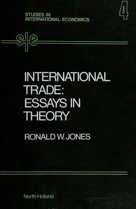 Cover of: International trade   Ronald Winthrop Jones