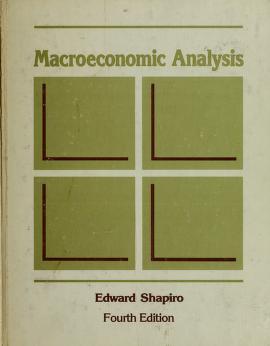 Cover of: Macroeconomic analysis | Edward Shapiro