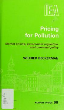 Cover of: Pricing for pollution   Wilfred Beckerman