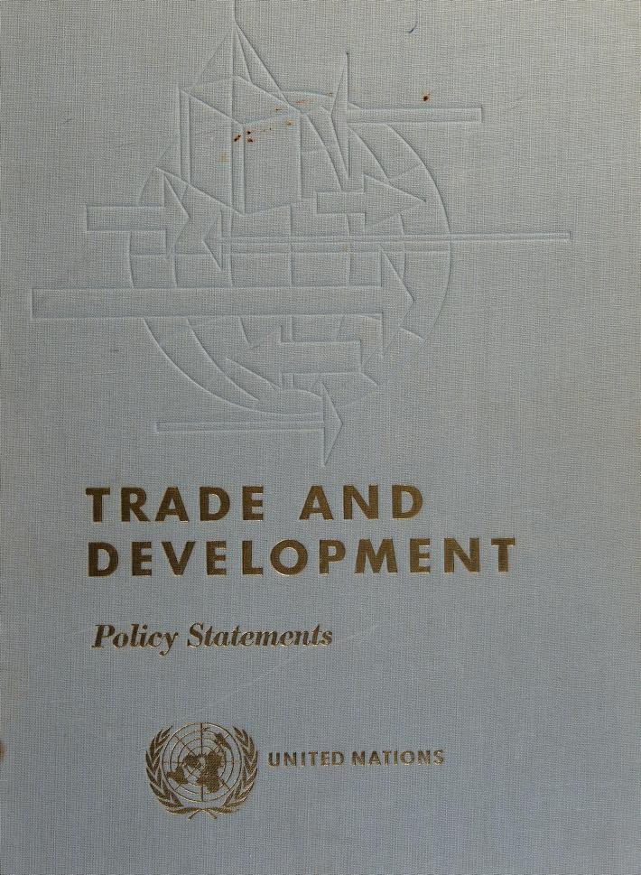 Proceedings by United Nations Conference on Trade and Development (1964 Geneva)
