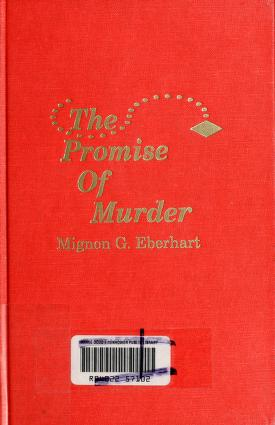 Cover of: The promise of murder | Mignon Good Eberhart