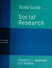 Cover of: Study Guide for Basics of Social Research | Babbie